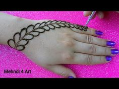 Most Easy Simple Mehndi design for hands Tribal Henna Designs, Mehndi Designs Book, Back Hand Mehndi Designs, Mehandi Designs Easy, Stylish Mehndi Designs, Mehndi Designs For Girls, Mehndi Designs For Beginners, Mehndi Designs For Fingers, Mehndi Patterns