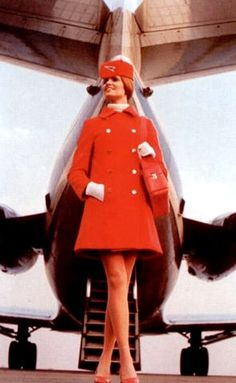 theswingingsixties:    A 1960s air hostess.