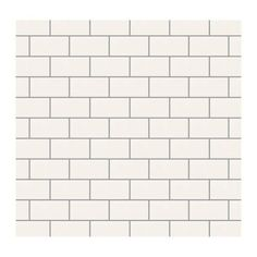 Daltile Rittenhouse Square White 3 in. x 6 in. subway tile. Home Depot. $22 for 100 tiles! Best price I've found