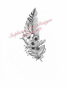 Custom Tattoo Illustration for Natalie F. by StephanieLowDesigns