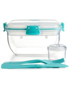 Martha Stewart Collection Food Storage Container, Salad To Go - Kitchen Gadgets - Kitchen - Macy's -$8.99