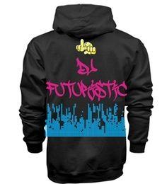 "Image of LMS ""DJ Futuristic Edition"" Hoodie - Black"