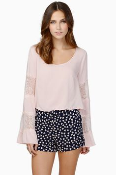 Blush Ring My Bell Sleeve Top at $12 (was $40)