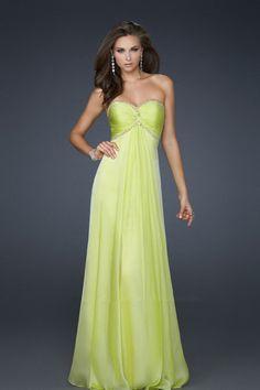Strapless 2012 Prom Dresses Sheath Column Empire Waist Floor Length Chiffon Beading Sequins Online Sale