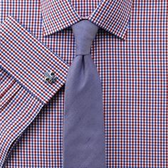 Red and royal two colour gingham check extra slim fit | Men's dress shirts from Charles Tyrwhitt | CTShirts.com