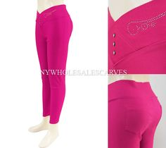 Solid Color Jeggings CY-216 HotPink