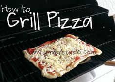 Easy Dinner Recipes: Grilling Pizza and Grilled Pizza - A Mom's Take Grilled Pizza Recipes, Grilling Recipes, Cooking Recipes, Grilling Tips, Cooking Tips, Easy Dinner Recipes, Great Recipes, Easy Meals, Favorite Recipes