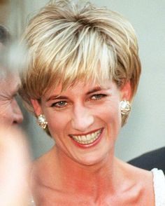 23 June 1997: Princess Diana at Christie's Auction House in New York, where her dresses were auctioned for charity.