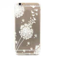 Colored Painting Ultrathin Soft TPU Back Case for iPhone 6 6S - Dandelion