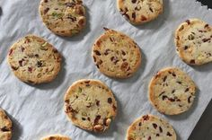 Holiday Shortbread - cranberry, pistachio and white chocolate shortbread cookies - for Cookie Party
