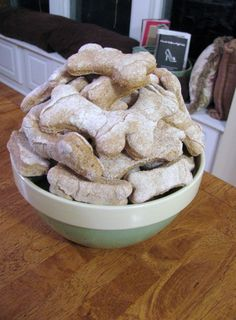 homemade dog biscuit recipe for the doggies