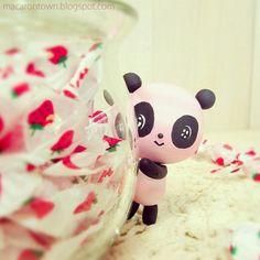 panda with candy. Me enamoré!