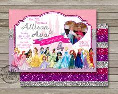 Disney Princess Invitation, Princess Birthday Invitation, Disney Princess Party, Princess Invitation, Disney Princess, Princess Birthday by TwinkleMeDesigns on Etsy