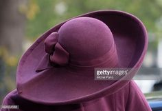 Queen Maxima of The Netherlands, hat detail, leaves after opening the 10th International Hands On! Conference on children's education in museums at the Rijksmuseum on October 13, 2015 in Amsterdam,...