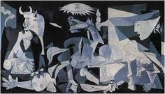 Guernica is a painting by Pablo Picasso. It was created in response to the bombing of Guernica, a Basque Country village in northern Spain by German and Italian warplanes at the behest of the Spanish Nationalist forces, on 26 April 1937, during the Spanish Civil War.