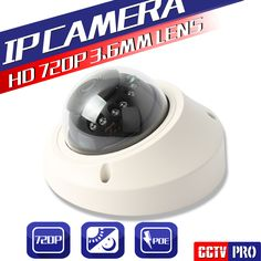 POE Port 1.0MP Mini Dome Camera Network Security 20M IR Vandalproof 720P IP Camera With P2P Cloud Onvif Android IOS Online View