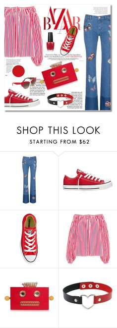 """""""Butterfly"""" by limass ❤ liked on Polyvore featuring Valentino, Converse, Maison Rabih Kayrouz, Charlotte Olympia and Dolce&Gabbana"""