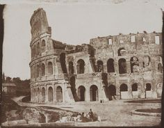 One of the oldest photographs of Rome - the Colosseum as photographed by the Rev Calvert Richard Jones in 1846. #Rome