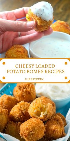 Today I have carried these Cheesy Loaded Potato Bombs with me. They are the ideal method to go through a portion of your Thanksgiving remains and an incredible game day nibble. Potato Bombs Recipe, Potato Recipes, Sausage Recipes, Mashed Potato Bombs, Fried Mashed Potatoes, Cheesy Recipes, Appetizer Recipes, Snack Recipes, Cooking Recipes