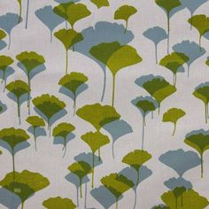 Latest Designer Fabric 'Ginko in Juniper & Lime on Cream' by Ink and Spindle (AUS). Buy online or visti our fabric retail store in Christchurch. Fabric Design, Plant Leaves, Lime, Retail, Cream, Store, Stuff To Buy, Home Decor, Creme Caramel