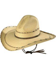 Larry Mahan 30X Pancho Gus Palm Straw Western Hat - MS 7681PNCO  fashion   clothing abec8588e4b3