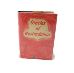 Vintage Book Oracles of Nostradamus by TheThriftMonster on Etsy