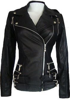 womens leather motorcycle jackets - 1