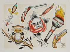 When searching for new tattoo ideas, I keep coming back to owls... you can never have too many.