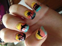 Summer Nail Design I Did Myself!