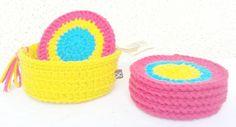 Posavasos Crochet Linea - Individuales y Posa Vasos - Casa - 492873