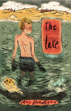 """""""The wave shut me off from the world, from the birds in the sky, the children on the beach, my mother on the shore. There was a moment of green silence.""""  - Ray Bradbury, The Lake"""