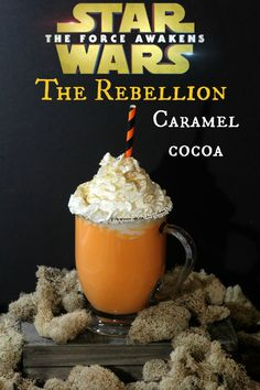 The Force Awakens is now awake! We have some fun activity sheets for you to print, and a super yummy hot chocolate recipe. The Rebellion caramel cocoa