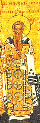 Dignitary at the court of Empress Irene (797-802), Saint Nicephoros became a monk, later Patriarch, and defended the veneration of icons. When iconoclast Leo the Armenian (813-820) became emperor, he exiled Nicephorus to Prokonnis island, where he died. 18 years later, the saint's relics were discovered undecayed and fragrant and brought to Constantinople. His hands are in the Khilendaria monastery on Mount Athos. (Mar 13, Jun 2)