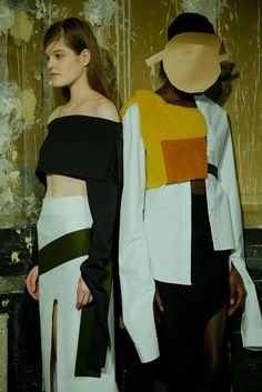 Paper masks and collage pieces at Jacquemus AW15 PFW. See more here: http://www.dazeddigital.com/fashion/article/23932/1/jacquemus-aw15