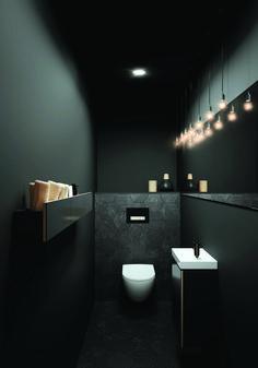 Toiletruimte met toilet en badkameubel van Sphinx # b… Toilet room with toilet and bathroom furniture from Sphinx # bathroom furniture Bad Inspiration, Bathroom Inspiration, Bathroom Ideas, Bathroom Designs, Shower Ideas, Wc Design, Design Case, House Design, Modern Toilet Design
