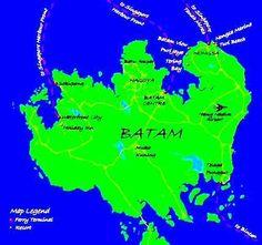 Peta Pulau Batam
