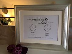 Beautiful personalised framed print to cherish those special moments A perfect gift Can be personalised for upto 4 children Personalisation