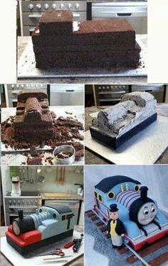 Gâteau locomotive... ...