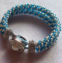 Double strand Kumihimo with interchangeable button clasp