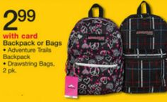 Walgreens: Backpacks – Only $2.99!