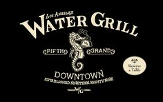 water grill. was supposed to eat here for my birthday but  it never happened. menu makes me drool, though. los angeles. restaurant. dtla.