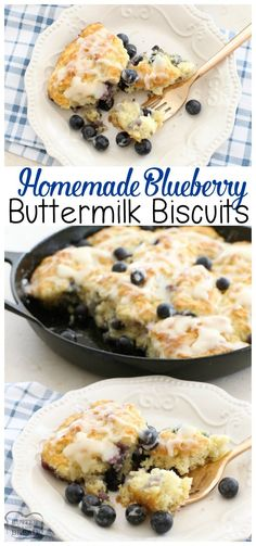 Soft buttery & flavorful pan of homemade biscuits chocked. Soft buttery & flavorful pan of homemade biscuits chocked full of fresh blueberries! Blueberry Buttermilk Biscuits easy bread recipe from Butter with A Side of Bread Blueberry Biscuits, Buttermilk Biscuits, Buttermilk Recipes, Bisquick Recipes, Blueberry Bread, Homemade Biscuits Recipe, Biscuit Recipe, Homemade Rolls, Recipes