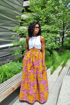 African Print Maxi- Victoria Maxi - Chen Burkett New York