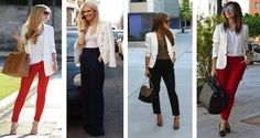 blazer blanco con vestido combinacion - Buscar con Google