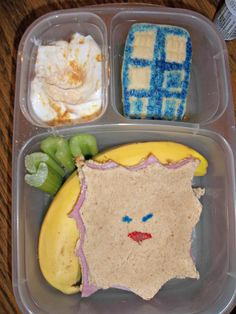 Lunches Fit For a Kid: Lunch: Dr. Who Blog Hop 8.31.12 (creepiest sandwich ever... moisturize me!)