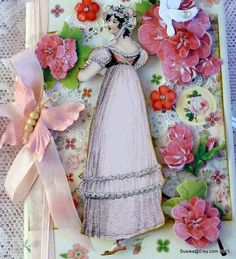 Pink Regency Lady Personal Journal Embellished With Extra