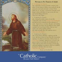 3 Novena Prayers to St. Francis of Assisi Francis Of Assisi, St Francis, Jesus Lives, Jesus Christ, Saint Feast Days, Patron Saint Of Animals, Novena Prayers, Catholic Religion, Prayer Cards