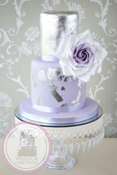 Giant Rose and Silver Leaf Cake by Windsor Cake Studio - Cake by Windsor Craft