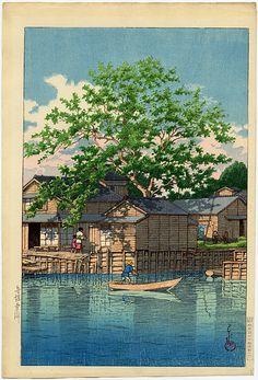 """Hasui, Kawase (1883-1957) , """"Kuri Ferry, Funabori"""""""