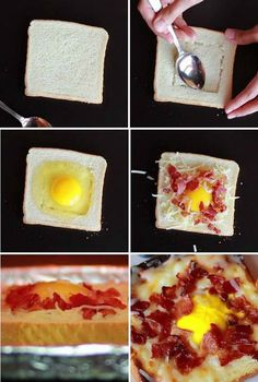 Broiled Eggs on Toast With Bacon and Cheese | POPSUGAR Food